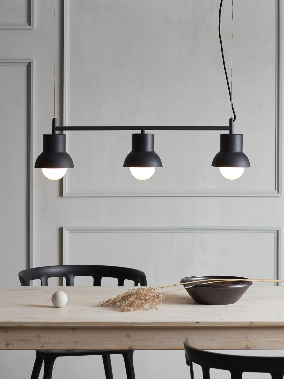 Black celing lamp from Co Bankeryd designed by Odda