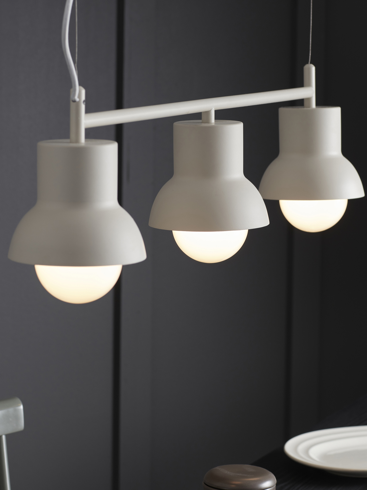White celing lamp from Co Bankeryd designed by Odda