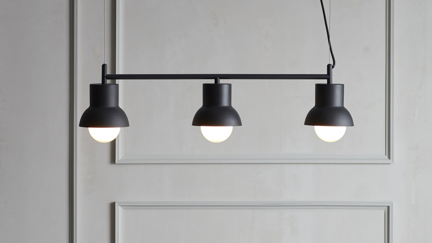 Black lamp from Co Bankeryd designed by Odda